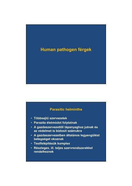 Helminthiasis és giardiasis kezelése és tünetei, Helminthiasis mi van