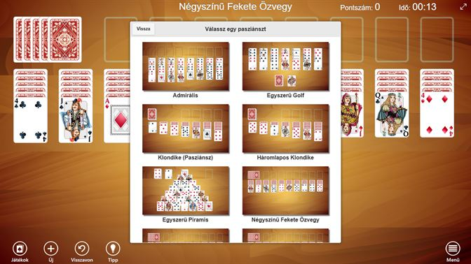 játék ezzel: Pasziánsz játék gyűjtemény - Online Pasziánsz Játékok Pasziánsz gyűjtemény