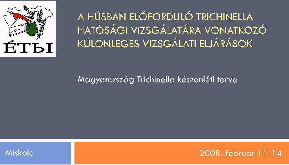 trichinella megelőzés