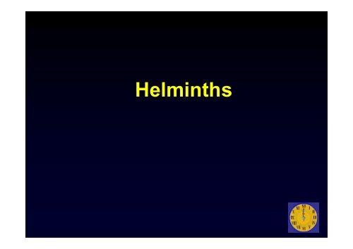 helminthiases kórokozók