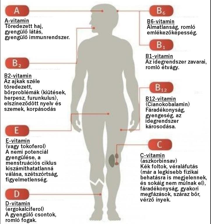 aszcariasis és csökkent vitaminok